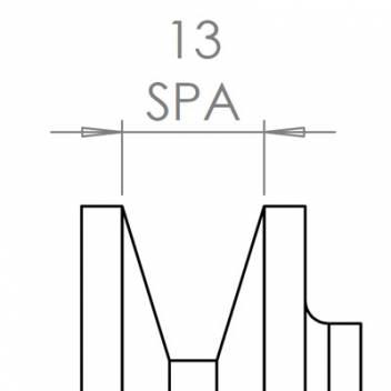 13 mm széles ékprofilban futó szíjak
