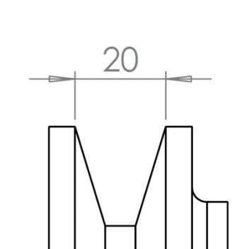20 mm széles ékprofilban futó szíjak