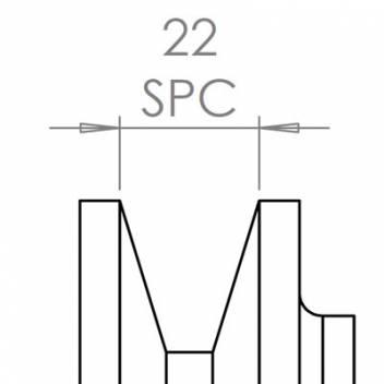 22 mm széles ékprofilban futó szíjak