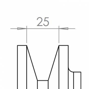 25 mm széles ékprofilban futó szíjak