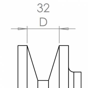 32 mm széles ékprofilban futó szíjak