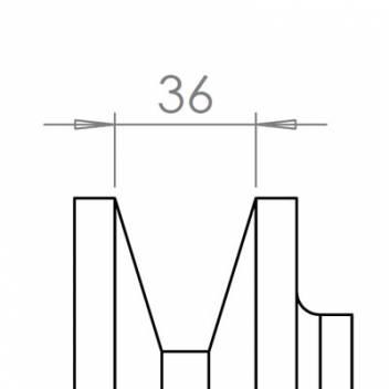 36 mm széles ékprofilban futó szíjak