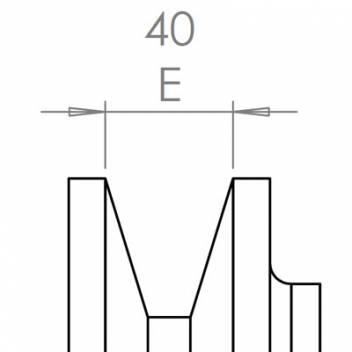 40 mm széles ékprofilban futó szíjak