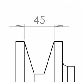 45 mm széles ékprofilban futó szíjak