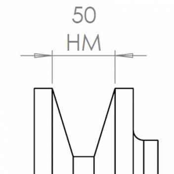 50 mm széles ékprofilban futó szíjak