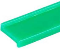 S024163641 - Rexnord (Marbett) láncvezető Z-profil, zöld, szélessége: 20 mm, polietilén, cikksz.: 10091092
