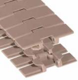 Rexnord LF 880 TAB-K450 [LF880TAB-4.5IN] kanyarodó szállítólánc, szélessége: 114,3mm, barna LF acetál (kód: L0880604041, cikkszám: 10177743)