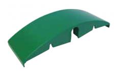 S0153684231N1 - Rexnord (Marbett) íves csúszóelem visszafelé futó lánchoz, tengely átm. 20 mm, 244x84 mm, zöld PE, cikksz.: 10082569