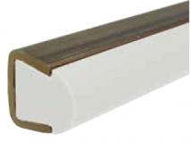 S021960161 - Rexnord (Marbett) vezetőprofil (gomba) UHMWPE fehér, rozsdamentes C-profillal, 3 méteres szálakban, cikksz.: 10375825