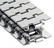 Rexnord 10 T 31 M (10T31M) kanyarodó szállítólánc (Max-line, TAB), rozsdamentes acél, sz.: 82,5mm, (kód: 768.13.01, cikkszám: 10139441)