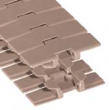 Rexnord LF 880 TAB-K325 [LF880TAB-3.25IN] kanyarodó szállítólánc, szélessége: 82,5mm, barna LF acetál (kód: L0880604031, cikkszám: 10177740)