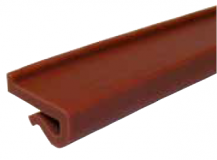 S0251UL642553 - Rexnord (Marbett) láncvezető J-profil (82,5 mm lánchoz), 20x3 mm, vörösesbarna ULF, cikksz.: 10375892