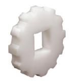 Rexnord CS 2010-10-40x40 [KU2010-10T_40MM_S_UH] fogaskerék, Z=10, furat: 40x40 mm, forg. PE (kód: 897.20.07, cikkszám: 10332108)