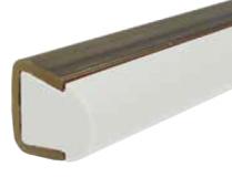 S021961753 - Rexnord (Marbett) S0219 termékvezető profil fehér PE, 2 mm auszt. rozsdam. acél profilban, 3 méteres szálak, cikksz.: 10324477