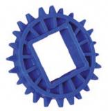 Rexnord CS 1000 12-40x40 POM [N1000-12T_40MM_S_POM] fogaskerék, Z=12, f.: 40x40mm négyszög, D=96,5mm (kód: 893.02.21, cikkszám: 10148119)