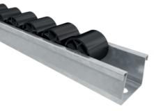Interroll floway görgősléc, hossza: 2 méter, osztás: 28mm, fekete (kód: LOR_I_Floway)