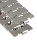 Rexnord 60 M 84 XM acél szállítólánc, kanyarodó Magnetflex, lapka sz.: 84mm, kopásálló csappal (kód: 767.69.84, cikkszám: 10139439)