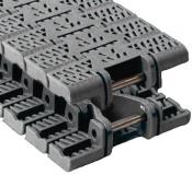 Rexnord FTM 1040 PSX kanyarodó (Magnetflex) sz.lánc, o.: 25,4mm, sz.: 84mm, PSX (acetál), szürke (kód: 10604578, cikkszám: 10604578)