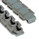 Rexnord Multiflex szállítólánc, HP 1765 ZeroGap, acetál, barna, csapok: rozsdam. Ac., o.: 50mm (kód: L1765604062N, cikkszám: 10177518)