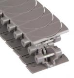 Rexnord HP 1775 ZeroGap szállítólánc, barna HP acetál, osztás: 25 mm, lapka szélesség: 70 mm (kód: L1775634993, cikkszám: 10177523)