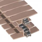 Rexnord LF 1873 TAB SG-K325, alaplánc: szénacél, lapka: acetál, barna, szélesség: 82,5mm, TAB (kód: L1873604731, cikkszám: 10177569)