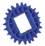 Rexnord CS 1000 18-40x40 [N1000-18T_40MM_S_POM] fogaskerék, Z=18, 40x40 mm négyszögtengelyhez (kód: 893.08.21, cikkszám: 10148120)