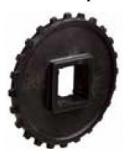 Rexnord fogaskerék N 5936 T24 S40 (N5936-24T_40MM_S_POM) osztatlan, öntött, Z=24, 40x40 négyszögt. (kód: 114-696-11, cikkszám: 10013547)