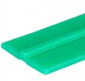 S024263671 - Rexnord (Marbett) láncvezető csúszóprofil, UMMWPE, zöld, 40 mm széles, középen 2,5x4 mm megvezetővel, cikksz.: 10375849