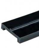 S0263694321 - Rexnord (Marbett) láncvezető csúszóprofil, UHMWPE, fekete, 43 mm széles, középen 3x3 mm megvezetővel, 3m, cikksz.: 10375824