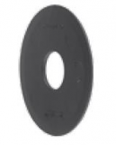 S0555695201 - Rexnord (Marbett) 555 típusú tárcsa, 18,2mm-es furattal ellátott görgőhöz, fekete PE, cikksz.: 10372331