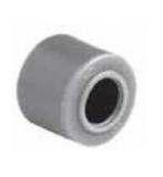 S036364434 - Rexnord (Marbett) görgő, átm. 11 mm, világosbarna acetál, furat: 5,2 mm, hossz: 9,8 mm, cikksz.: 10178764