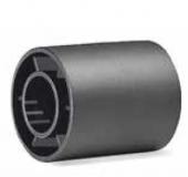 S042163868 - Rexnord (Marbett) visszfordító görgő, furat: 16,5 mm, 42,5xID16,5x50mm, fekete PE, cikksz.: 10102021