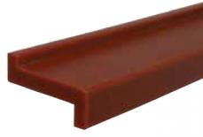S0262UL640913 - Rexnord (Marbett) láncvezető profil (CHN GUIDE 262 Z-PROF W23XT4MM ULF 45M), ULF vörösesbarna, Z-típusú, cikksz.: 10375822