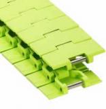 Rexnord DRY-PT880TAB-3.25IN műanyag szállítólánc, kanyarodó (TAB), DRY-PT, lime zöld, szélessége: 82,5 mm (kód: 10479419)