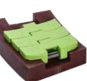 Rexnord DRY-PT1050FTTAB-3.3IN műa. szállítólánc, kanyarodó (TAB), Dry-PT, lime zöld, lapka vast.: 8,7mm, sz.: 83,8mm (kód: 10501304)