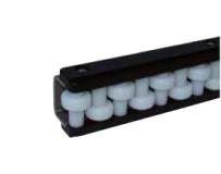 S012864541 - Rexnord (Marbett) görgős oldalvezető, 1 sor görgővel, horganyzott acélprofillal, hossza: 2085 mm, cikksz.: 10082324
