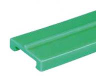 S0000644071 - Rexnord (Marbett) 886 profil, zöld PE, középen 3x3mm vezetőnúttal, 6 m szálakban (korábban: S0886644071), cikksz.: 10375644