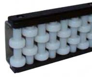 S012864511 - Rexnord (Marbett) görgős oldalvezető, 2 sor görgővel, hossza: 2085 mm, horganyzott acélprofillal, cikksz.: 10372042