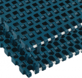 Rexnord XLG1255-510MM_RB-RB kanyarodó modulheveder, szélessége: 510 mm, XLG acetál, zöldeskék (kód: 867.70.15)