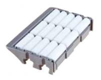 S0848645643 - Rexnord (Marbett) 848 típusú görgős végmodul, hossz: 75 mm, teljes sz. (K)=115mm, fehér POM görgőkkel, cikksz.: 10372852