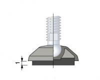 R0000630012 - Rexnord (Marbett) gumilap [ANTI SLIP 173] átm. 50 mm géptalpakhoz, anyaga: NBR fekete gumi, cikksz.: 10030099