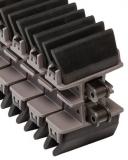 Rexnord HP1873TAB GRIP SS-3.25IN S2J EPDM BK 45 megfogó (gripper) lánc, rozsdamentes görgőslánccal (kód: L1873628743, cikkszám: 10373943)