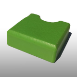 PE300UV-S pisztáciazöld 10 x 1500 x 3000 mm - PE-HD (nagy sűrűségű polietilén), UV-álló, strukturált felületű műanyag tábla