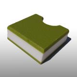 PE300UV-STC pisztáciazöld-fehér-p. 12 x 1500 x 3000 mm - PE-HD (nagy sűr. polietilén), UV-álló, strukturált f., 3 rétegű műanyag tábla