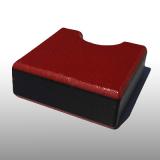 PE300UV-STC piros-fekete-piros 19 x 1500 x 3000 mm - PE-HD (nagy sűr. polietilén), UV-álló, strukturált f., 3 rétegű műanyag tábla
