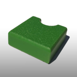 PE300UV-S zöld 15 x 1500 x 3000 mm - PE-HD (nagy sűrűségű polietilén), UV-álló, strukturált felületű műanyag tábla