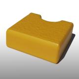 PE300UV-S sárga 15 x 1500 x 3000 mm - PE-HD (nagy sűrűségű polietilén), UV-álló, strukturált felületű műanyag tábla