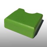 PE300UV-S pisztáciazöld 15 x 1500 x 3000 mm - PE-HD (nagy sűrűségű polietilén), UV-álló, strukturált felületű műanyag tábla