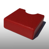 PE300UV-S piros 15 x 1500 x 3000 mm - PE-HD (nagy sűrűségű polietilén), UV-álló, strukturált felületű műanyag tábla