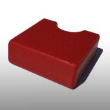 PE300UV-S piros 10 x 1500 x 3000 mm - PE-HD (nagy sűrűségű polietilén), UV-álló, strukturált felületű műanyag tábla